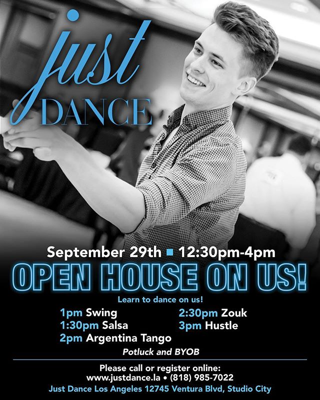 Open house this Saturday be sure come meet our new #dance #instructors #salsa #zouk #argentinetango #swing #hustle #dance #dwts #studiocity