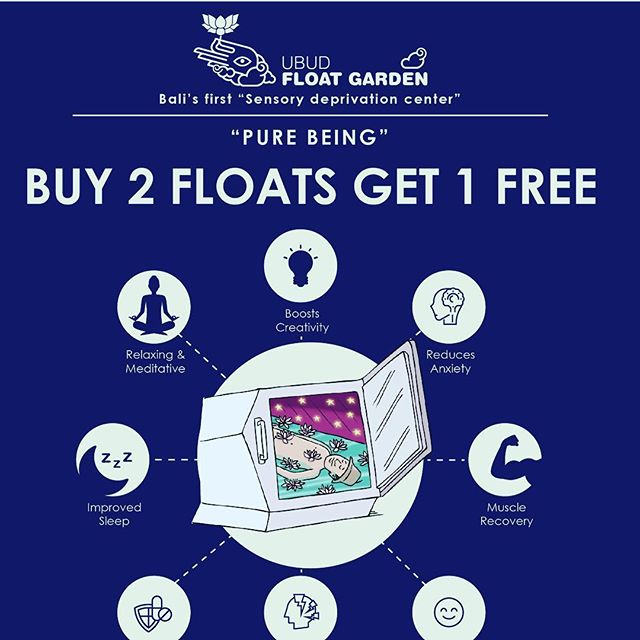 Buy 2 get one free!!! #ubud #bali #yogabali #peace #float #sensorydeprivation