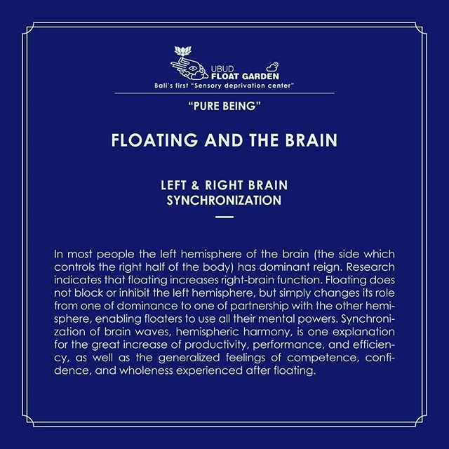 #ubud #float #sensorydeprivation #brain #science