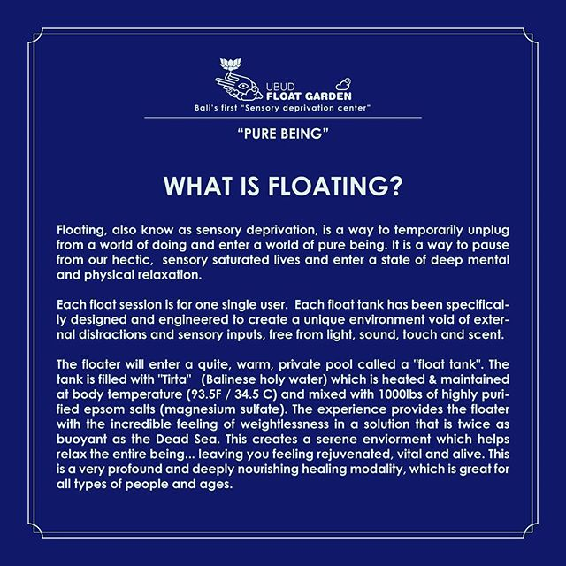 Come for an experience and leave with a new perspective. #ubud #float #sensorydeprivation #peace #yoga #bali #yogabarn