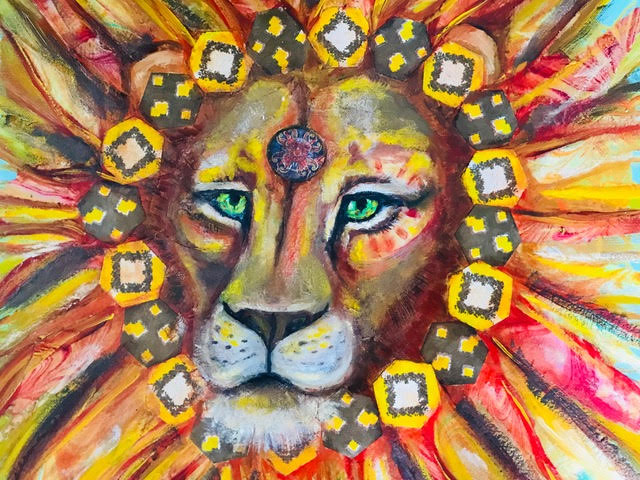 <strong>Lion with Mane of Fire</strong>