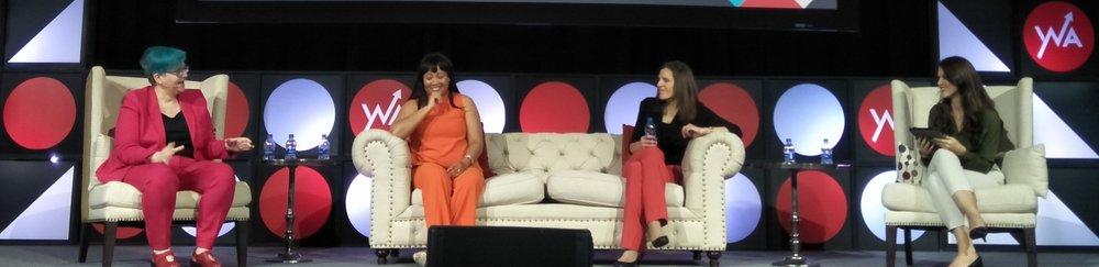 From the left: Cathy O'Neil, Nicole M. Alexander, Emily Schlesinger, Rehgan Avon