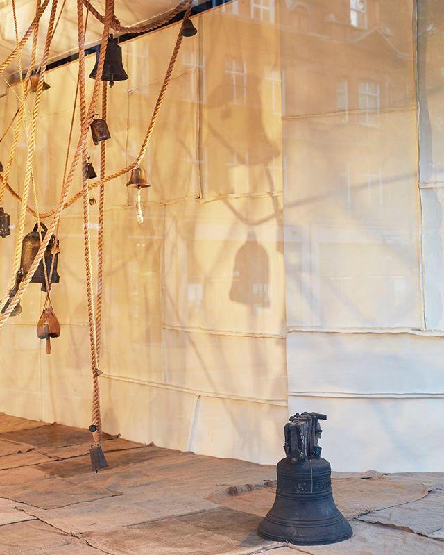 Last week in selfridges window for this heavy beast of a church bell #selfridges #thenewcraftsmen #churchbells