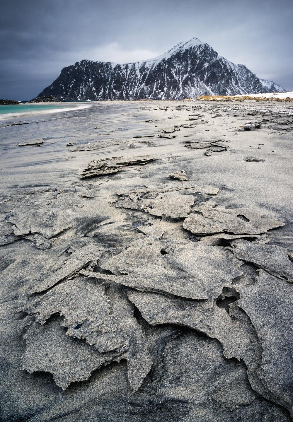 Frozen Sand at Skagsanden.