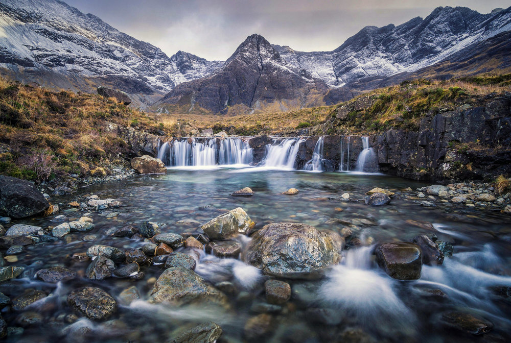 The beautiful Fairy Pools in Winter