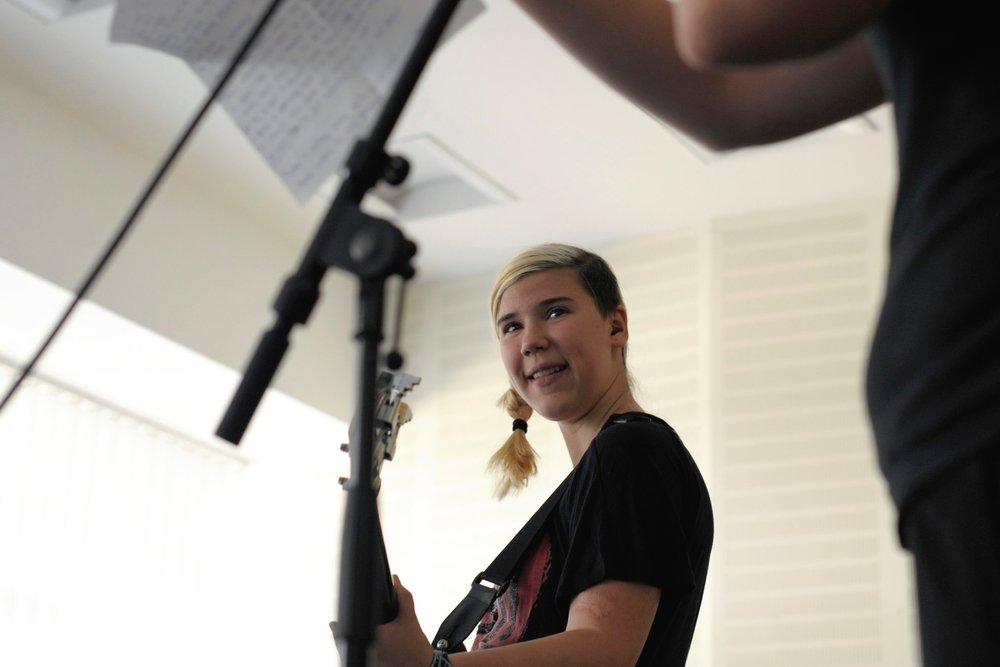 Anna Samira deltok på den første internasjonale bandleiren i Berlin i 2018.