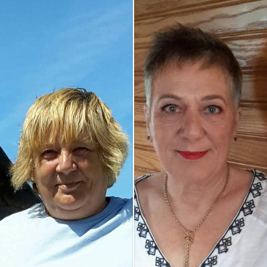 'One year.1650 miles.2.5 stone loss. And a haircut!'