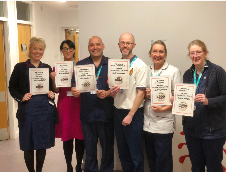 Best of rivals: the Occupational Health team from Royal Lancaster Infirmary Gemma, Clare, Pete, Matt, Donna and Heather.