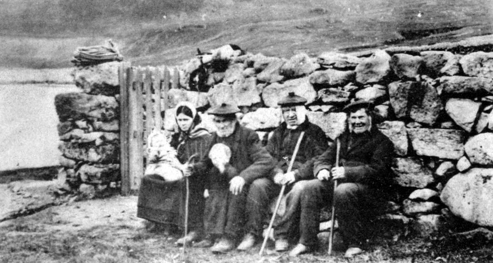 Crofters from the now-uninhabited neighbouring archipelago of St Kilda offer a glimpse of what life on Hy-Breasal may have been like.