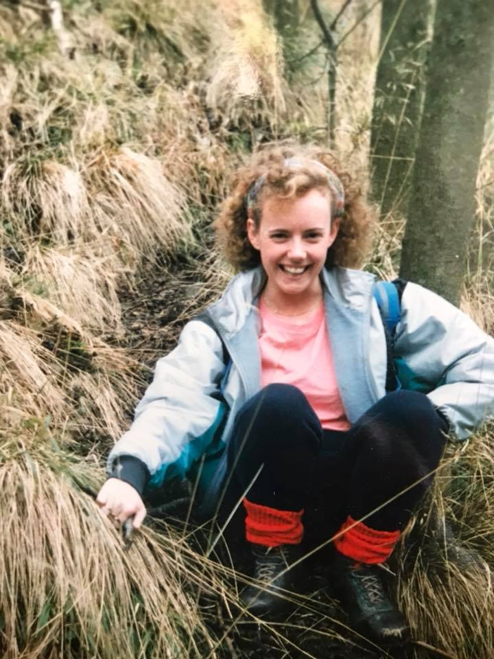 """Janine Sargent – """"Somewhere near Dovedale. It's about 35 years ago. My first pair of walking boots!"""""""