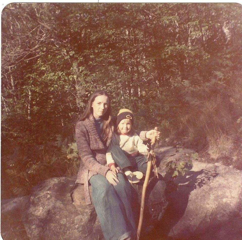 """Kim Dominguez – """"My niece and I taken in the Muskokas [Ontario]. I spent a lot of my teenage years tramping around in the surrounding woods"""""""