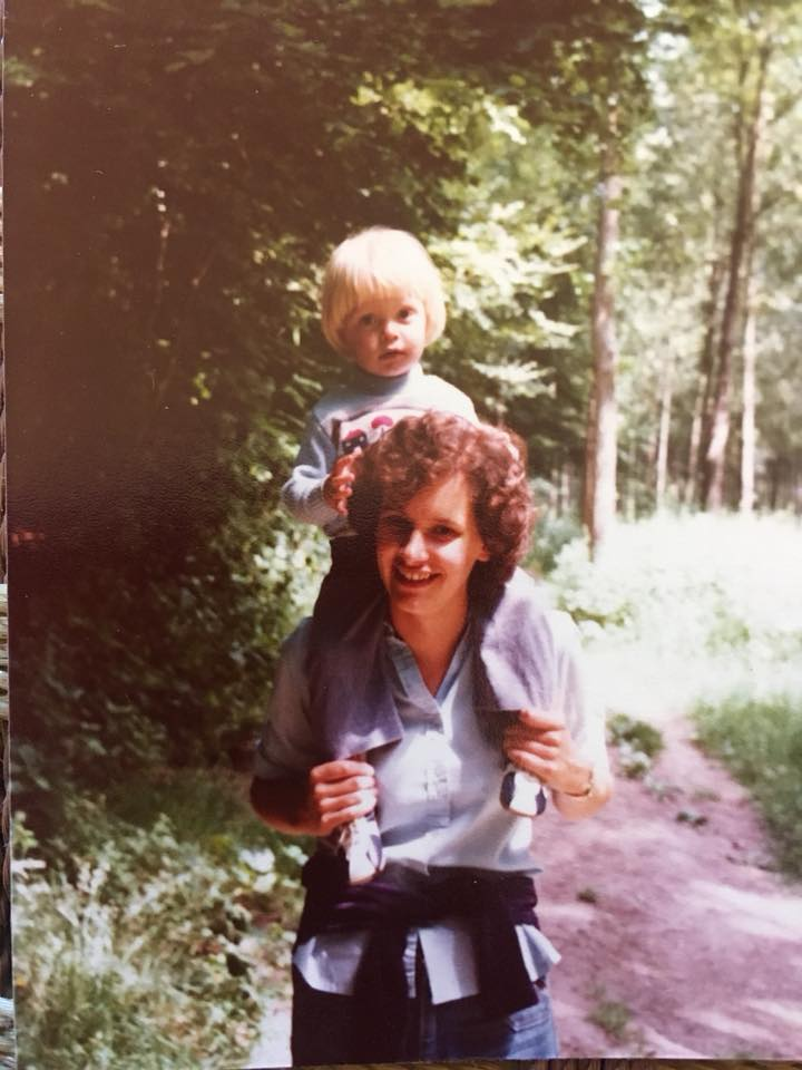 """Madeleine Lapworth – """"Carrying my young cousin 40 years ago."""""""