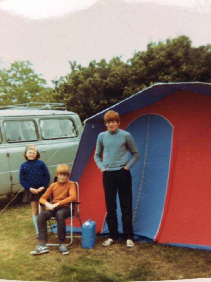 """Ruth Taylor – """"My first ever trip south to England after a particularly disastrous rainy few days near Fort William Brand new tent early 70s."""""""