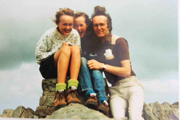 """Laura Sapsed – """"1989, summit of Ingleborough with dad and elder sister (I'm in the middle)."""""""