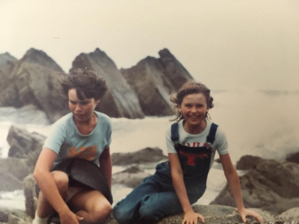 """Tracey Barraclough – """"Late 70s... my Dad thinks Bude beach (my sister, none too happy by the looks of it"""""""