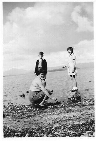 Pamela Wright Brogan (right) in 1946.