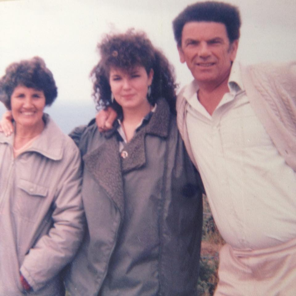"""Sandy Woodage - """"With my Mum and Dad hill walking before they invented hair straighteners."""""""