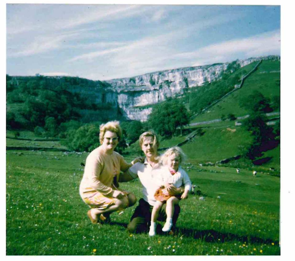 """Kath Wareing – """"This is me (the little thing!) on a camping trip to Malham with my parents c. 1968/69."""""""