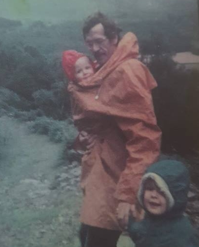 """Eleanor McCleary – """"With my dad and younger brother (being carried) walking somewhere in the Lakes circa 1980/1981."""""""