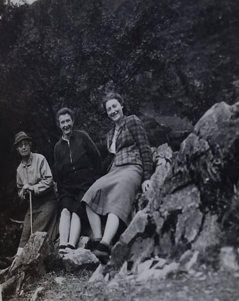"Janet Tibbit – ""Mum and friends walking in Switzerland in 1945"""