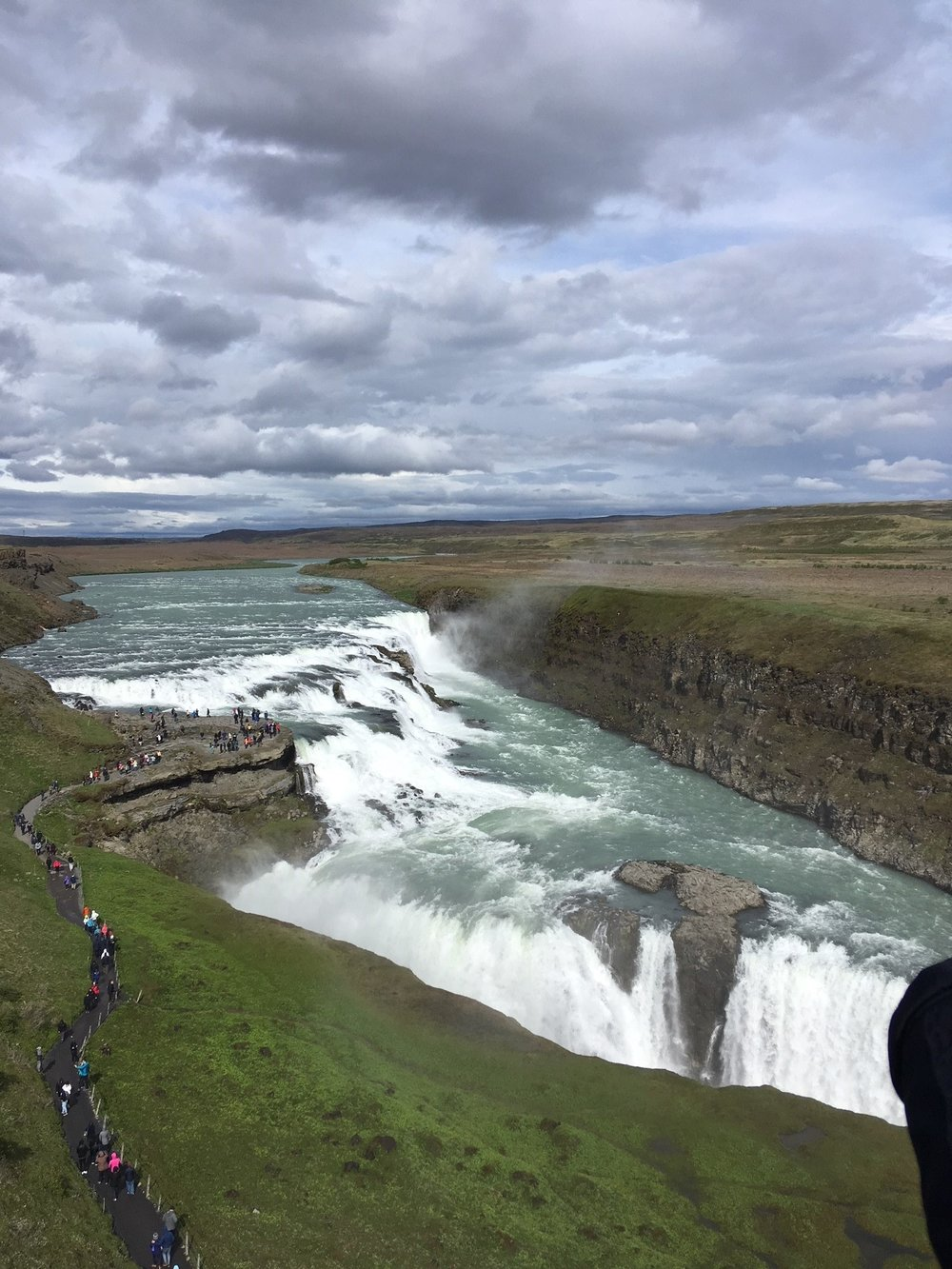 Gillian 22nd June image 36 Gullfoss - double waterfall.jpg