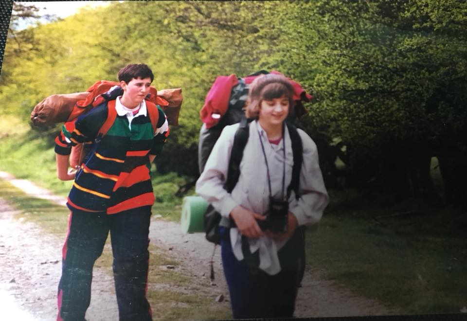 Tasha Leigh-Willetts: back to 1991 and me doing my DofE award. You can probably tell by my face I was a big fan of walking back then!