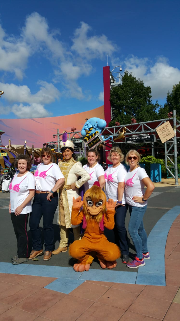 Photo 18 - A private photo with Aladdin and Abu - the power of the Bra T-Shirt.JPG