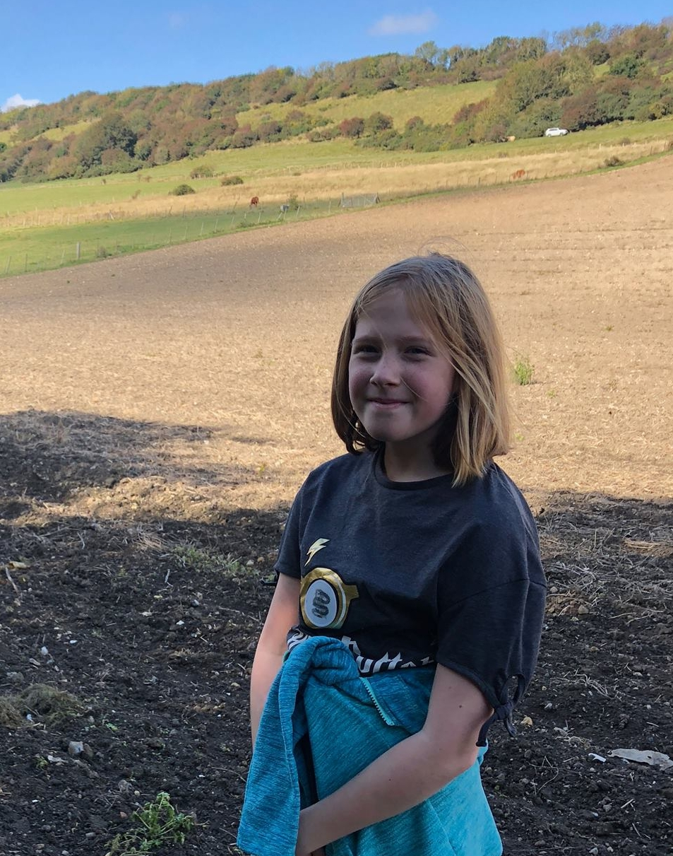 Evie Brennan (9) is within sight of the 1000-mile finishing line too!