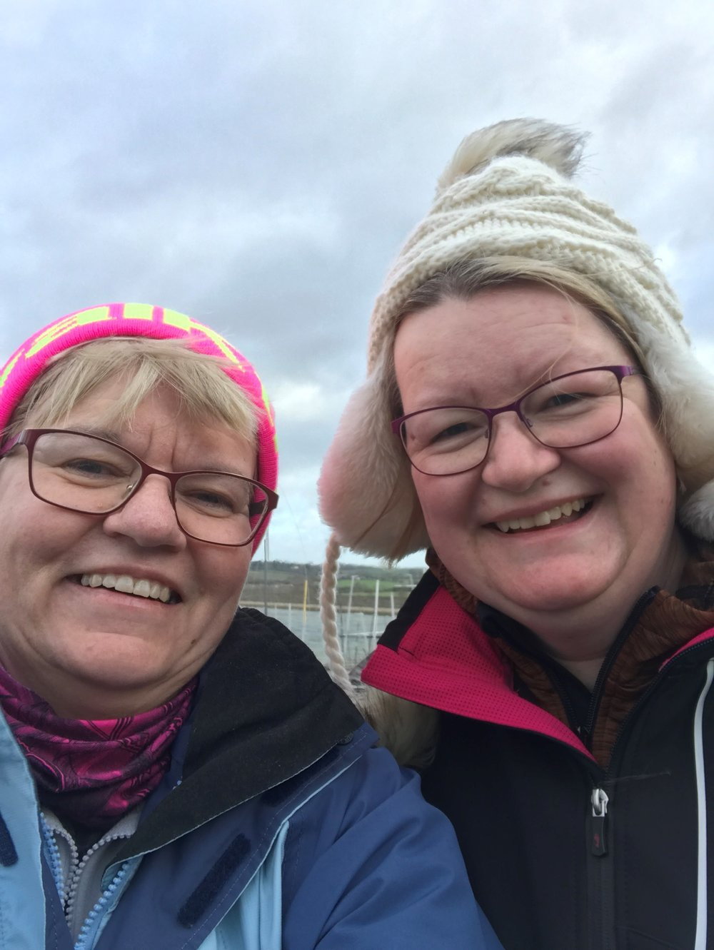 Pat Hipkiss Jan 2019 image 3 first proper training walk with Steph barrett at Draycote Water 27th January 2019.jpg