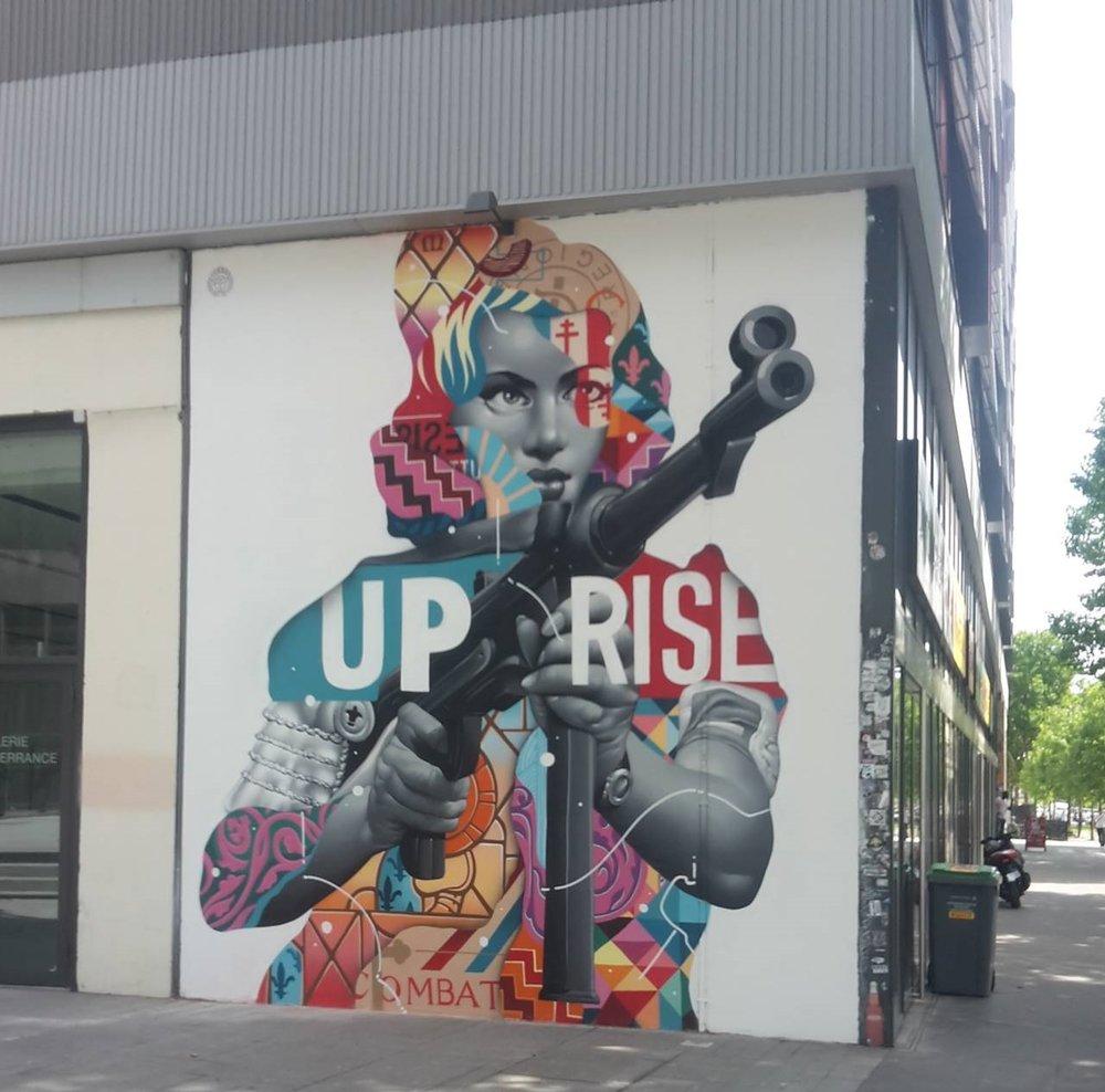 """Tristan Eaton """"Uprise"""", Paris 2017"""