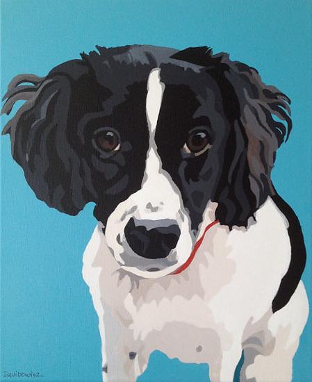 """Lily"", acrylic on canvas, 11"" x 14"""