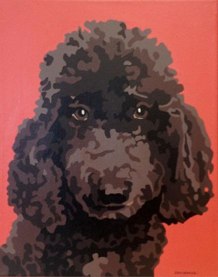 """Bob"", acrylic on canvas, 11"" x 14"""