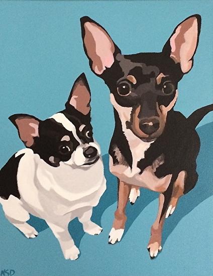"""""""Emma and Duncan"""", acrylic on canvas, 11"""" x 14"""""""