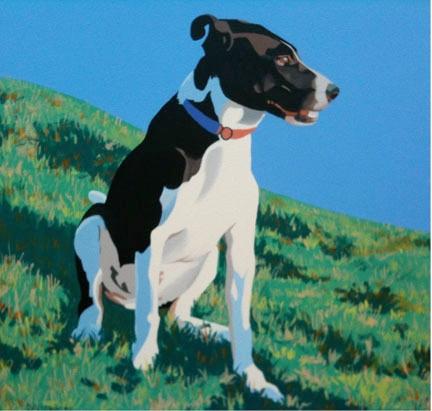 """""""Molly"""", acrylic on canvass, 14"""" x 14"""""""
