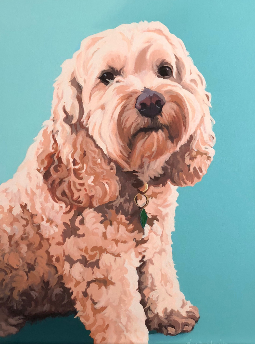 """Portrait of George"", acrylic on canvas, 18"" x 24"", 2018"