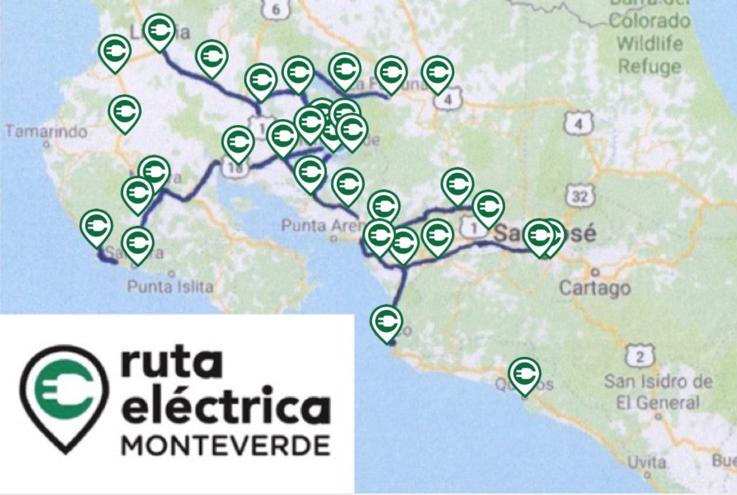 La Ruta Eléctrica Monteverde será la primera red de soporte para la movilidad eléctrica en el sector turismo en América Latina.