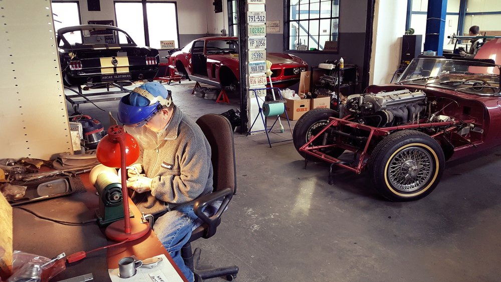 Mr Bohdan is restoring some metal parts for a Porsche 911 modification project into 911 RS.