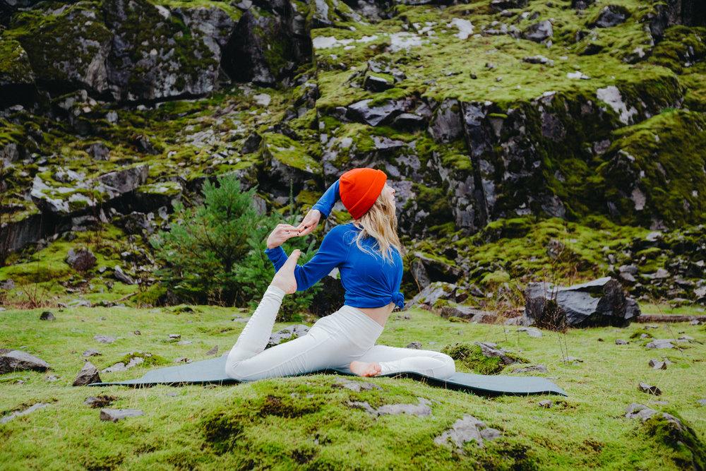 """a yoga pose. kc rhee."""
