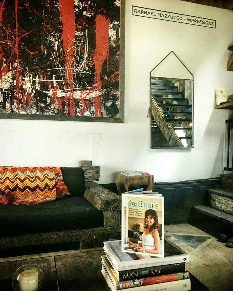 Influential artist & photographer Raphael Mazzucco sends us a photo of dadima's book in his studio!