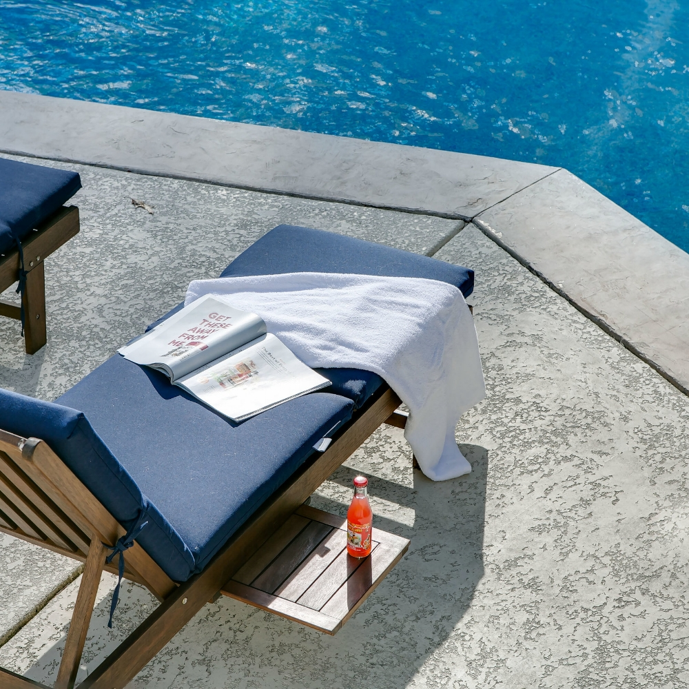 Navy Pool Chaise