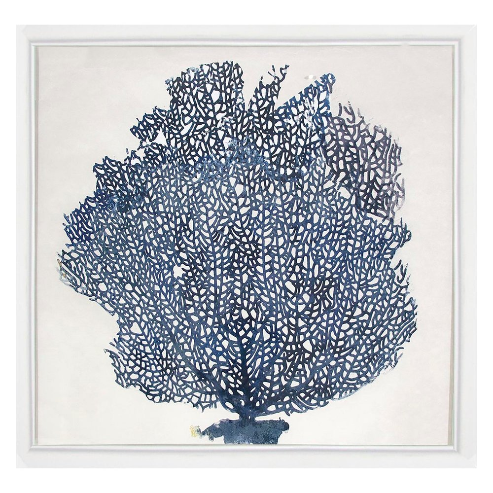 Blue Coral Framed Wall Art - $24.99