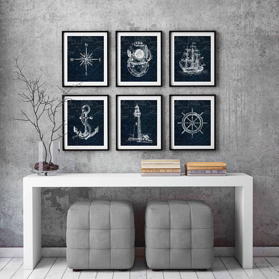Etsy - Nautical Print Set - $27.24