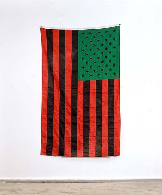 """African American Flag,"" David Hammons, 1990 #futuringblackart"