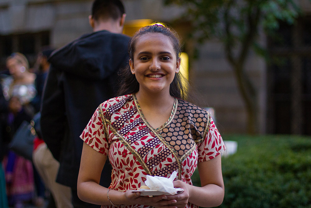 Shreya Sahdev, freshman, is from New Delhi, India and studies communication and rhetorical studies. Photo by Hanna Benavides.