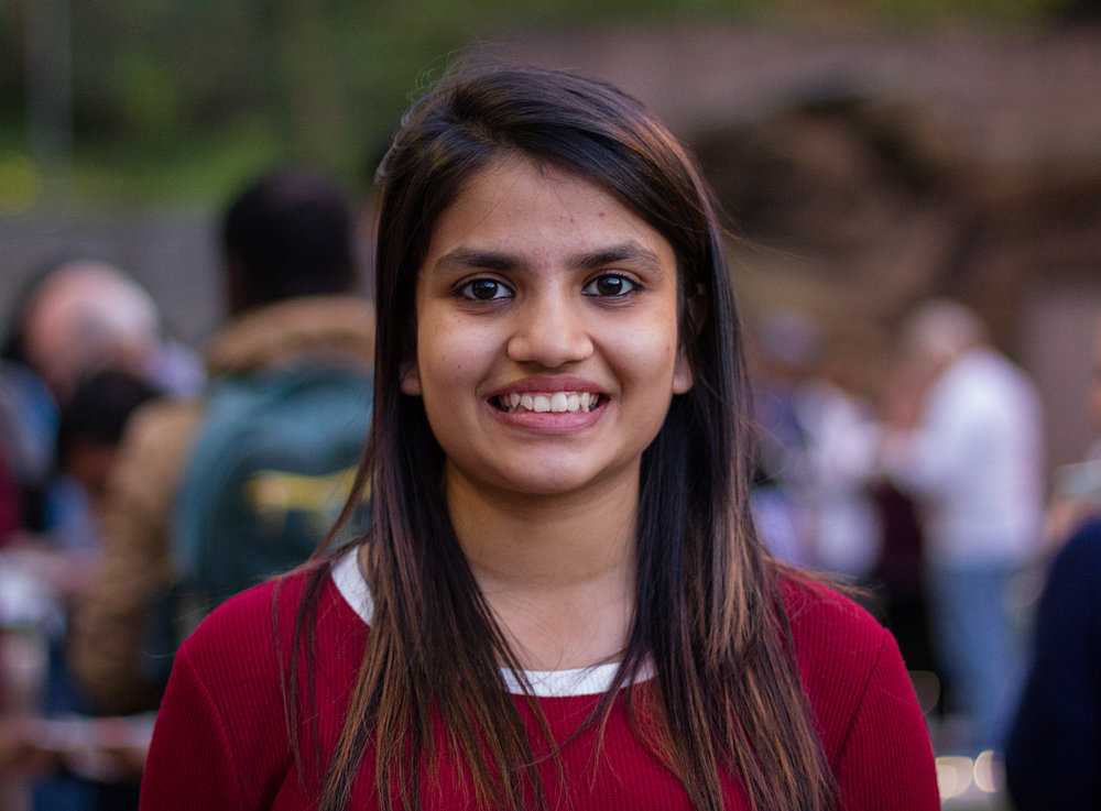 Nikita Kakani, freshman, is from Indore, India and studies marketing management. Photo by Hanna Benavides.