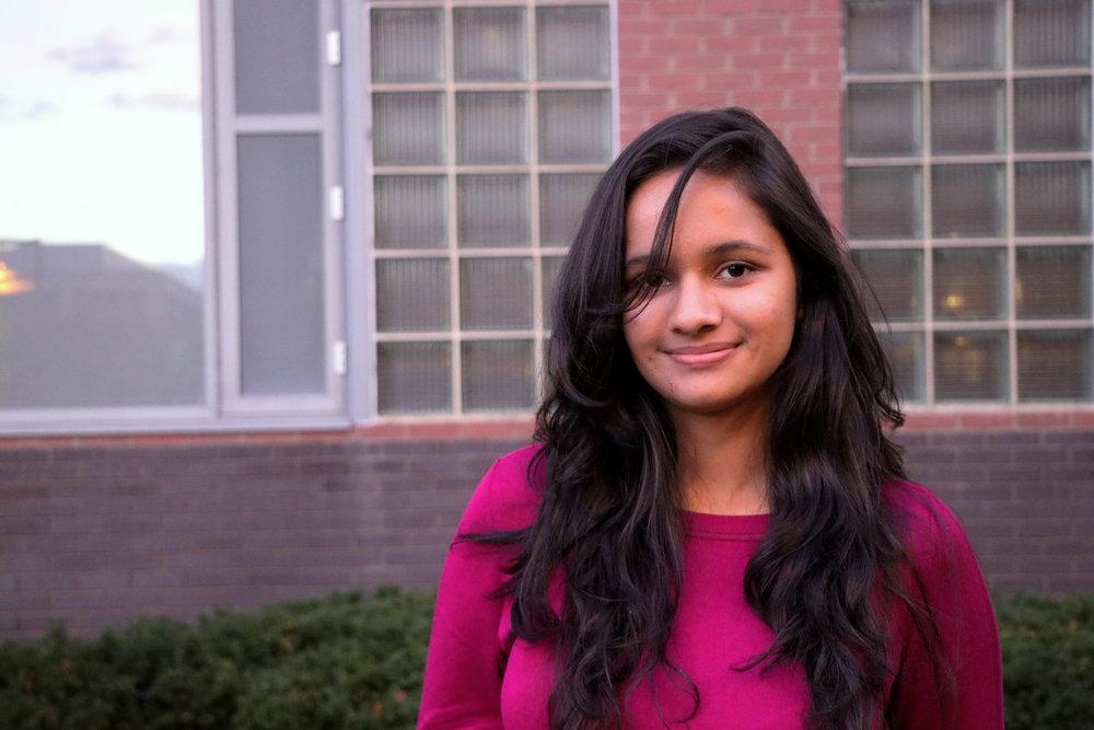Shriya Rawal, freshman, is from Dehradun, India and studies computer science. Photo by Saniya More.
