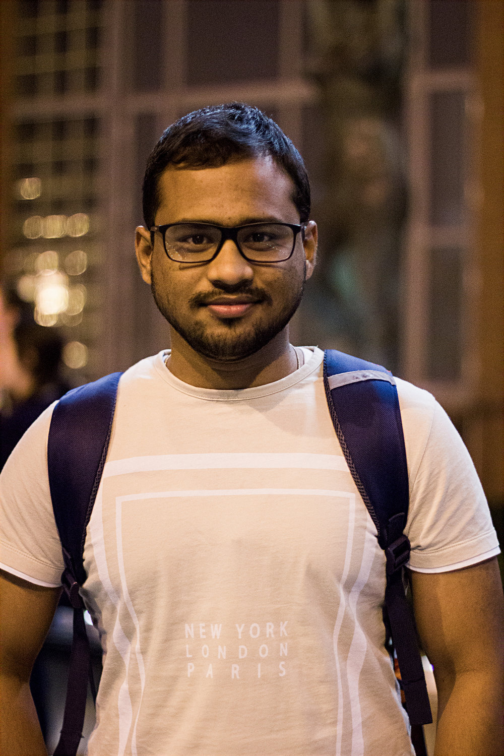 Prasan Karthikeyan, first-year graduate, is from Chennai, India and studies information management. Photo by Hanna Benavides.