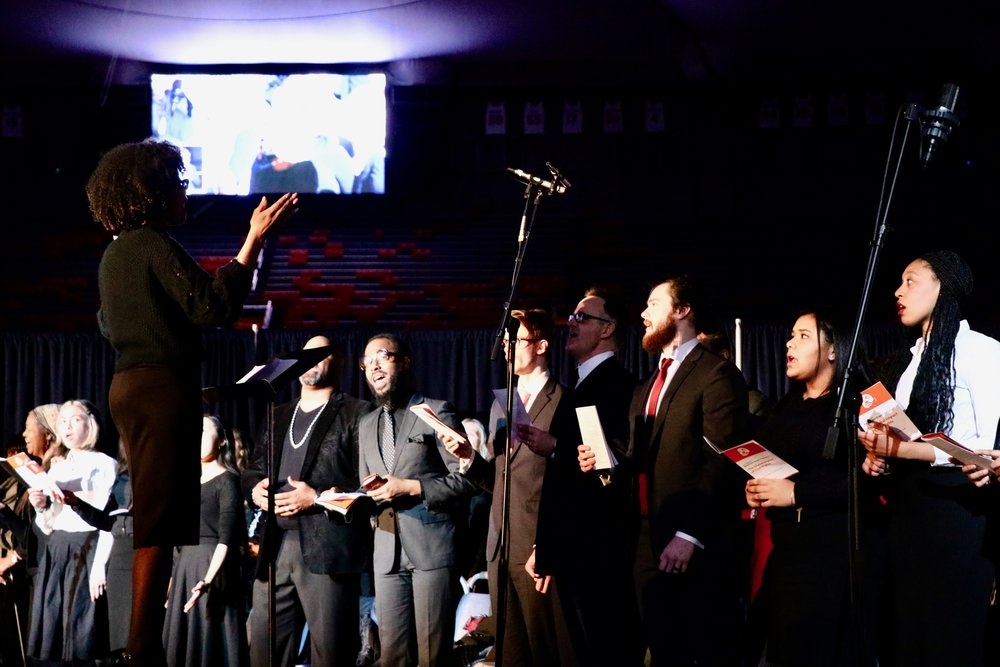The Black Celestial Choral Ensemble performs. Photo by Saniya More.
