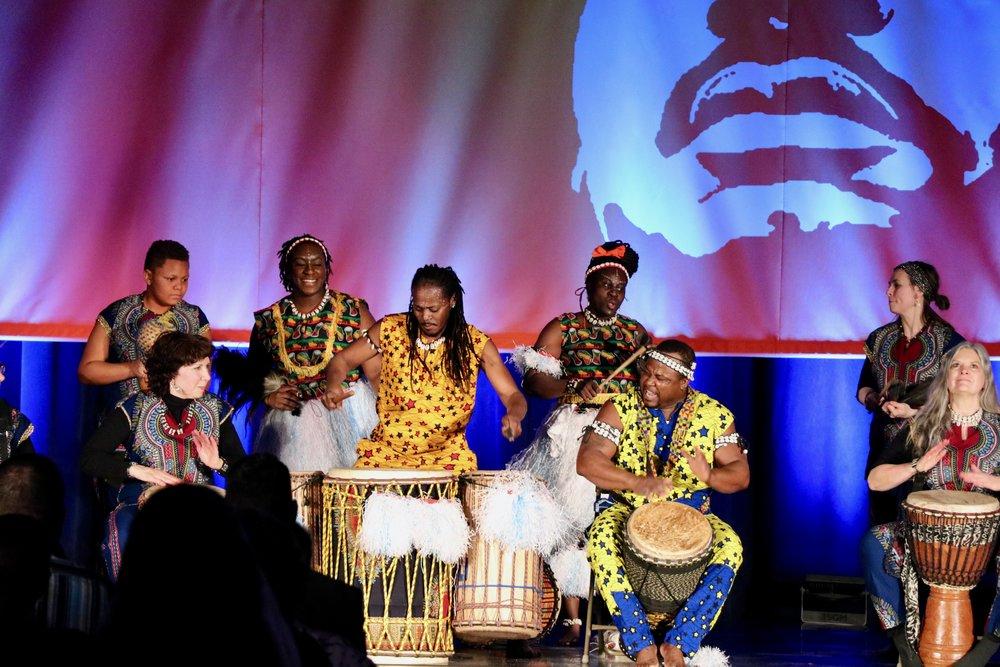 Adanfo Ensemble performs. Photo by Saniya More.