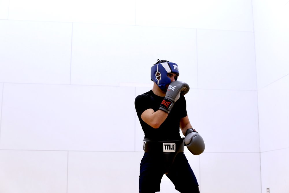 Goergios Michopoulos is captain of the SU Boxing team this year. Photo by Jiaman (Maggie) Peng.